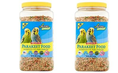 ( 2 Jars ) 3-D Pet Products Premium Parakeet Fresh Food, Bird Gourmet 5 Lb