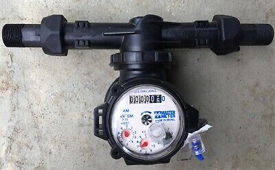 10 New Master Meter Fam Water Meter With Flow Tubes Couplings - Flexible Axis