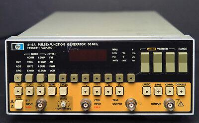 Hp Keysight 8116a 50 Mhz Pulse Function Generator Wopt.001