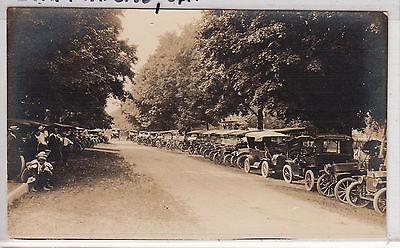 RPPC - San Francisco, CA (?) - Early 1900s Car Rally Scene - neat photo!!