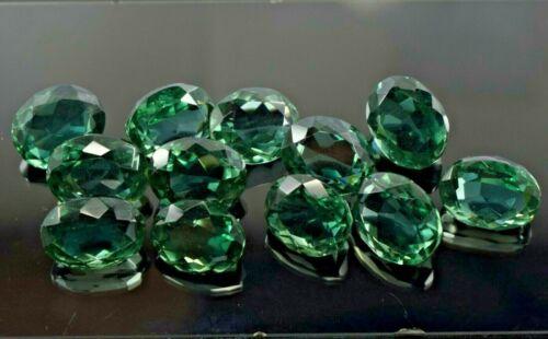 CERTIFIED 155 Ct Oval Shape 12Pcs Lot Brazilian Green Amethyst Loose Gemstone