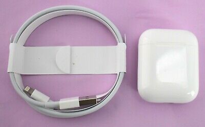 READ AUTHENTIC Apple AirPods Charging Case Non Wireless A1602 & Charging Cable
