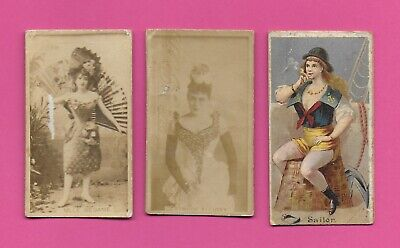 1890s Tobacco Cards MIXED LOT OF 3 actresses models risqué ladies LOOK!