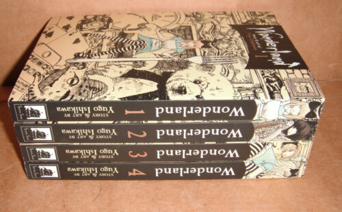 Wonderland Vol. 1,2,3,4 Manga Graphic Novels Set English