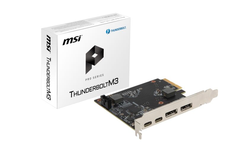 MSI ThunderboltM3 PCI-E 3.0 x4 Add-on Card for 2 x Thunderbolt 3 (USB-C) Ports