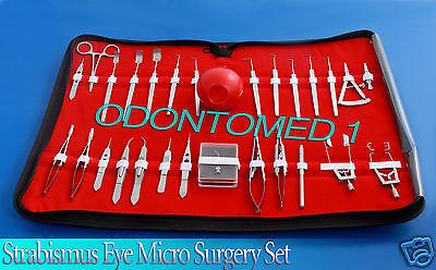 27 Pc O.r Grade Strabismus Eye Micro Minor Surgery Ophthalmic Set Kit Ey-027
