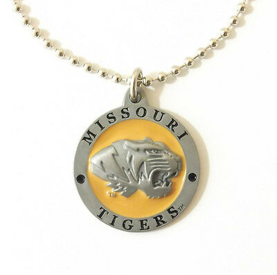 MISSOURI TIGERS LARGE PENDANT NECKLACE 24233 new college sports jewelry