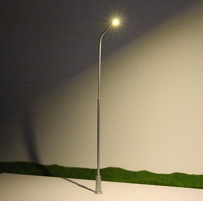 LNH20 5pcs Model Railway Lamppost lamps Street Lights O Scale LEDs NEW
