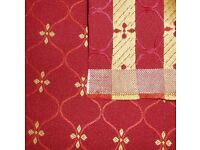 FABRIC - BURGUNDY & GOLD DESIGN (lot #3). Heavy weight upholstery material. COLLECTION or DELIVERY