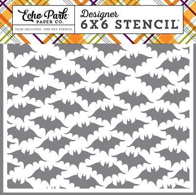 Echo Park BATS #2 6x6 Stencil Halloween Fall Scrapbook Gift Home Decor HA111033 - Halloween Bats Stencils