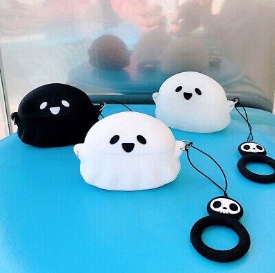 Cute Halloween Cartoons (Cute Halloween Ghost Silicone Wireless Bluetooth Earphone Case For Apple)