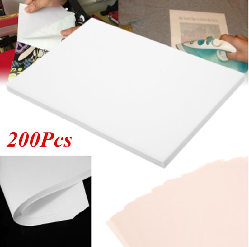 200Pcs A4 Sublimation Heat Transfer T-shirts Iron-on Paper F