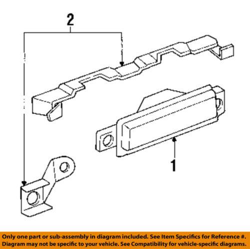 Oldsmobile GM OEM 88 Backup Lamps-Rear Lamps-Backup Lamp Assembly Right 5976166
