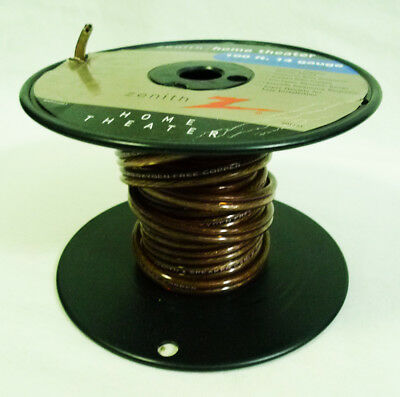 Zenith Home Theater 14 AWG Gauge Oxygen Free Copper Speaker Cable (2) for sale  Shipping to India