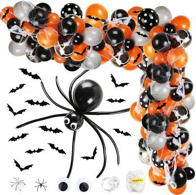 Halloween Balloon Garland Arch Kit for Birthday Party Ballon Decor Ornament 145p