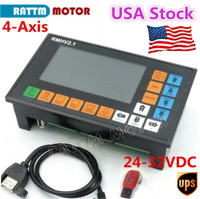 Usa4 Axis Cnc Motion Stand-alone Controller System G-code Plc Engraving 500khz