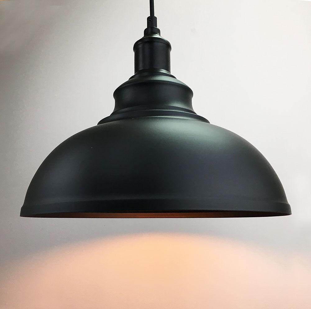 Industrial White Metal Ceiling Lamp Pendant Light
