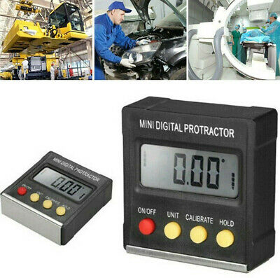 Mini Lcd Digital Protractor Level Box Angle Finder Inclinometer Gauge Magnet Us