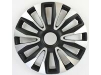 New 15 inch Black & Silver Avalone Car Wheel Trims Hub Caps