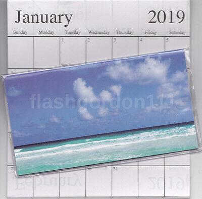 1 2018-2019 Beautiful Beach 2 Two Year Planner Monthly Pocket Calendar Datebook