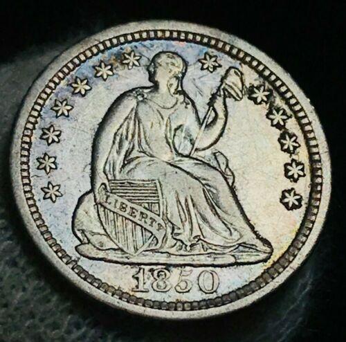1850 O Seated Liberty Half Dime 5C High Grade DIE CLASHES Silver US Coin CC2412