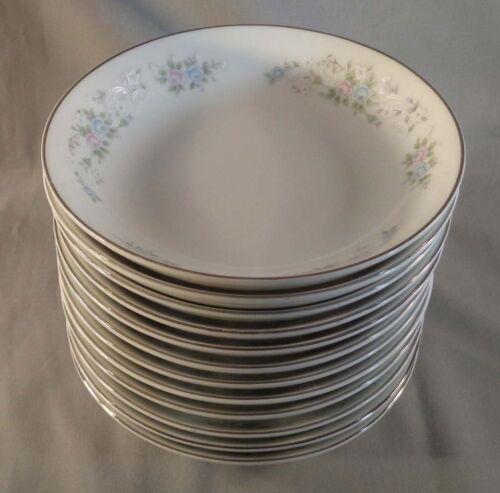 """Set of 12 Carlton China Corsage 481 5-1/2"""" Dessert Fruit Bowls Japan"""