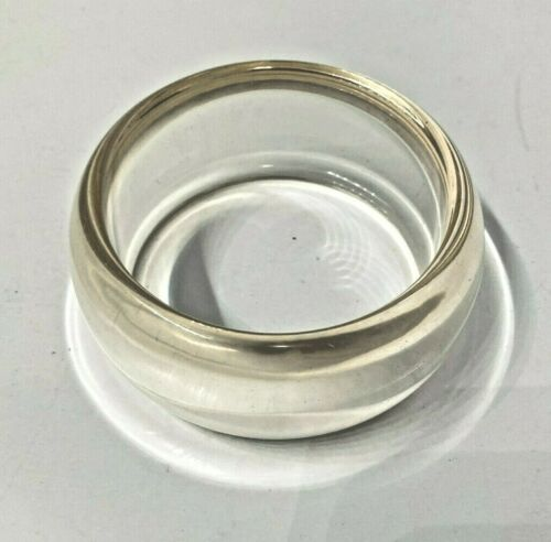 """Vintage clear Lucite bangle 1 1/2"""" wide"""