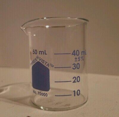New 12 Pack Pyrex Low Form Glass Beaker 50 Ml 70000-50