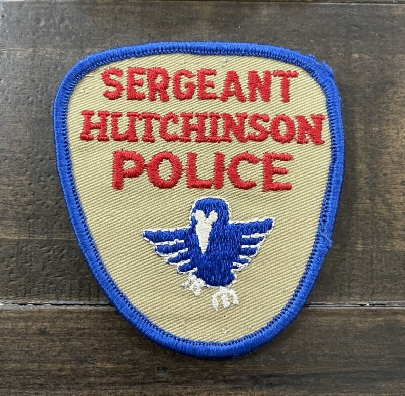 Vintage Cheesecloth Hutchinson, Kansas Sergeant Police Patch, KS Patch