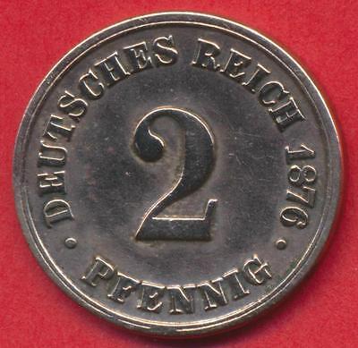 Münze Deutsches Reich - 2 Pfennig - 1876 B