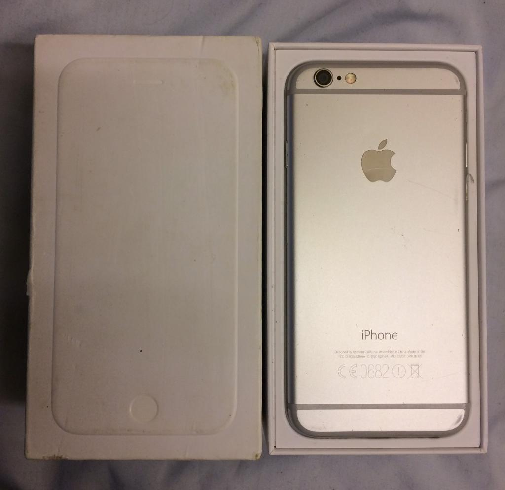 Cheap iPhone 6 16gb in silverin St Albans, HertfordshireGumtree - iPhone 6 16gb in stunning silver excellent condition and fully working order !!Network is ee/T Mobile/orange/virgin but can be unlocked for £10 !!!Comes with original box and charger Any inspection or checks welcomed Quick sale bargain £230 no...