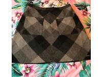 Superdry Black & grey checked Skirt- size Small was £50