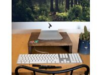 Handmade Wooden Monitor Stand / Desk Shelf / Riser / Platform / Plinth