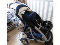 Graco Pushchair and Car Seat with Muffler and Rain Covers