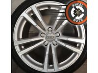 """18"""" Genuine Audi A3 S Line alloys Golf Caddy Leon good cond good tyres."""