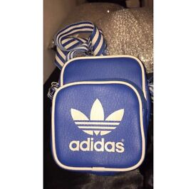 Adidas blue and white over the shoulder bag (unisex)
