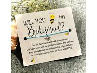 🤍 Will You 🐝 My Bridesmaid 🤍 Make A Wish Charm Bracelet Gift