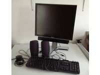 Dell Monitor, Keyboard and Speakers