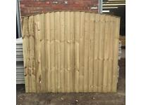 🍁Pressure Treated Arch Top Wooden Garden Fence Panels
