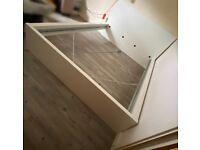 White king size malm IKEA bed frame