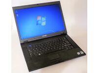 "Dell Latitude E5500 laptop. Windows 7 Pro, WiFi, 15.4"" screen, DVD rewriter, MS Office installed"