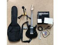 Yamaha Erg121 Pacifica Gloss Black Electric Guitar Amp Bag Stand Superb 012 112