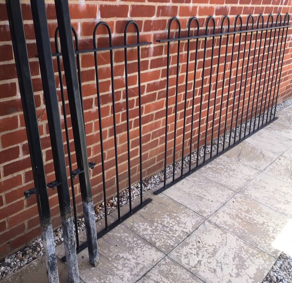 Black Wrought Iron Court Fence Panels Railings In High Wycombe Buckinghamshire Gumtree