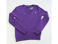 NEW Ralph Lauren Cable Knit Jumper Sweatshirt Rrp £124.99