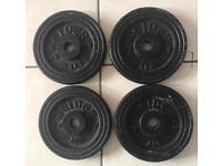 4 x 4kg Weider Weight plates total 16kg