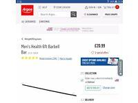 Men's Health 6ft Barbell Bar