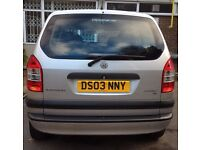 VAUXHALL ZAFIRA 16V CLUB, 1796cc PETROL, MANUAL, 4 New Tyres, 2 KEYS, 5 Seaters (7 Seaters Option)
