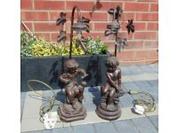 (#833) 2 chreub lamps(Pick up only, Dy4 area)