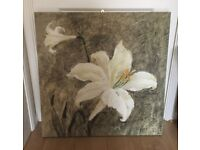 """Flowers Canvas Wall Art Picture 30""""x30"""""""