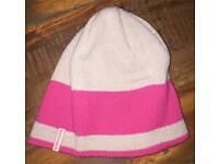 Kathmandu grey and pink beanie hat